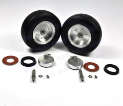 "3.5"" High Quality RC Rubber Wheel kit w/ Brake Axle for Viper Brake System"