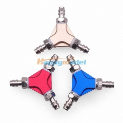 CNC Universal Oil Nozzel Three Direct Link 3 Way Joint For Gasoline Engine Air System
