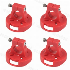 4Pcs/set D12mm Plastic mount holder for 2204/2205/2206/2208/2212 brushless motor Red Color