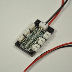 1pc 6 JST-PH PH3 Parallel Charger Board For 130X&UMX Lipo battery 4mm Banna Plug Flight-model