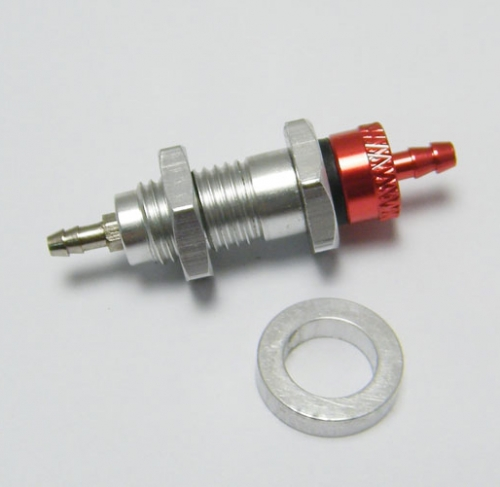 One way metal Air Filler Valve D2.5 x D8 x L25 mm