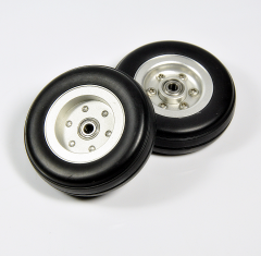 "1pc 2"" 2.25"" 2.75"" 3"" 3.25"" 3.5"" 3.75"" 4inch Rubber Tires Wheel with Aluminum Hub For RC Airplane Fixed-wing Plane Model"