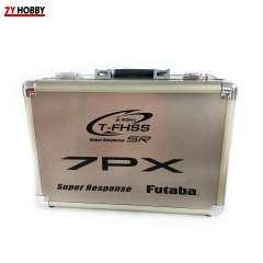 Portable Carry Aluminum Remote Control Case for Futaba 7PX Anti Damage, Anti Oxidation
