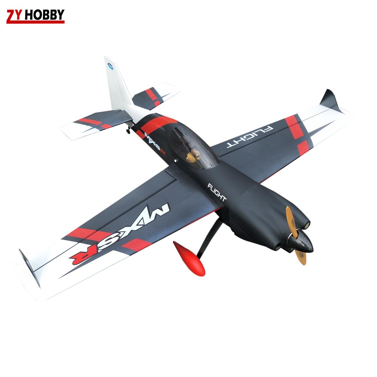 MXS-R 64inch/1625mm 20cc Gasoline Remote Control Plane RC Aircraft Kits ARF  Balsa Wood Black
