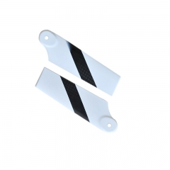 92mm White Carbon Fiber Tail Blades for RC Helicopter