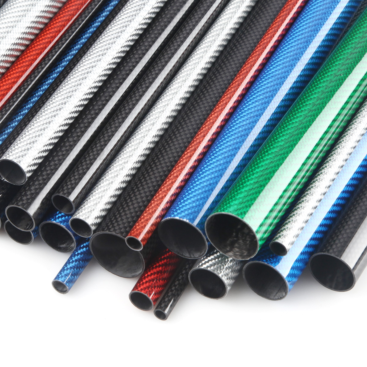 """Carbon Fiber Tubes Gloss Finish 100/% Made In USA 1/"""" ID 1.10/"""" OD."""