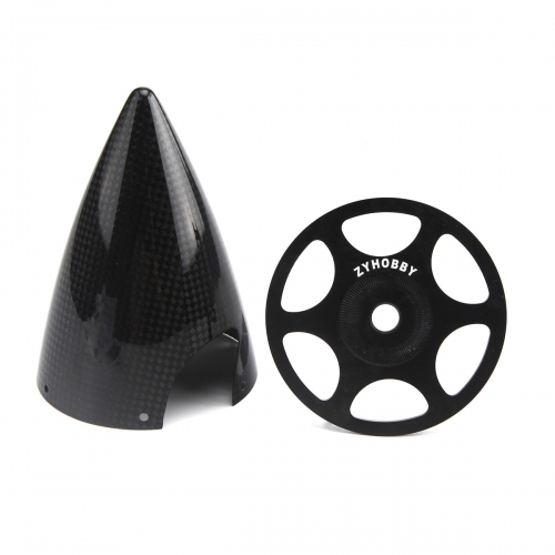 ZYHOBBY 2.75inch 3inch 3.5inch 4inch 5inch Cone Carbon Fiber Spinner Glossy Surface w/ Alu Back Plate